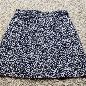 topshop cheetah size 4 mini skirt